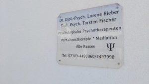 Praxisschild Psychotherapie Weißenhorn